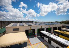 250 solar panels at Transdev's Capalaba Depot, Brisbane