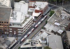 Aerial view of Sydney Light Rail