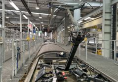 Image of new pantograph collision detection system being trialled in Wellington, New Zealand